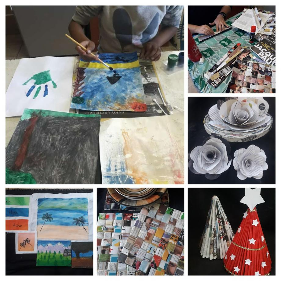 Recycling craft workshop