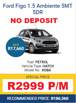 FORD NEW CAR SPECIALS - LIMITED STOCK