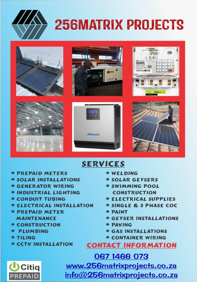 256matrix solar and electrical