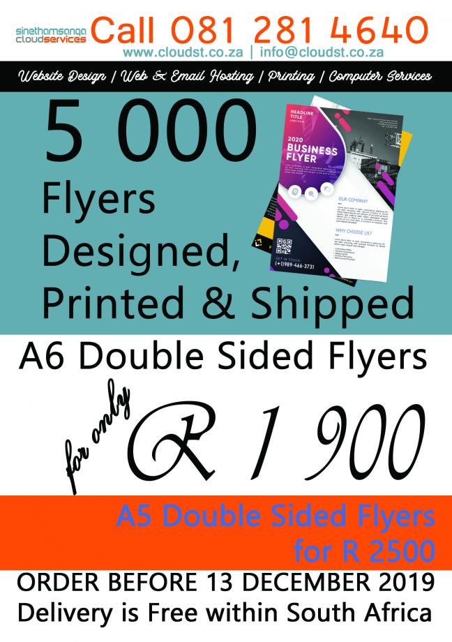 5000 Double Sided Flyers
