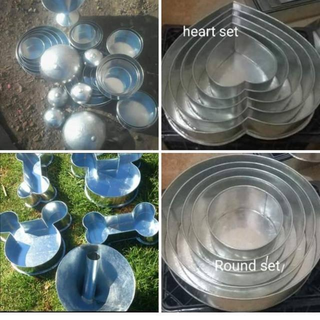 Baking pans and galvanized staff