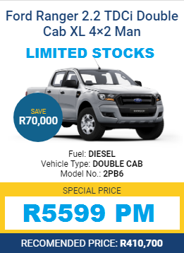 FORD NEW RANGER SPECIALS - LOW INTEREST RATE GUARANTEED