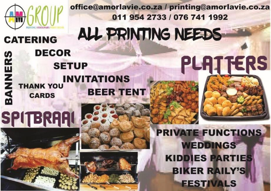 CATERING AND PARTY DECOR