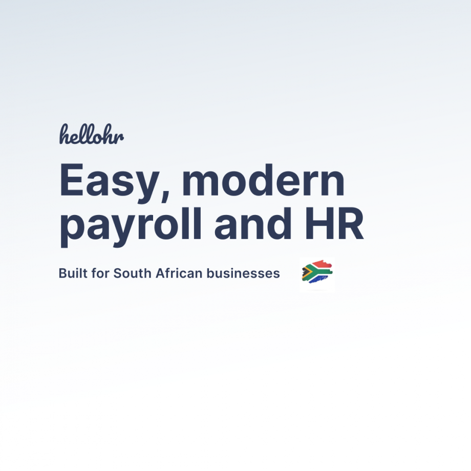 hellohr - Easy, modern payroll and HR for South Africa