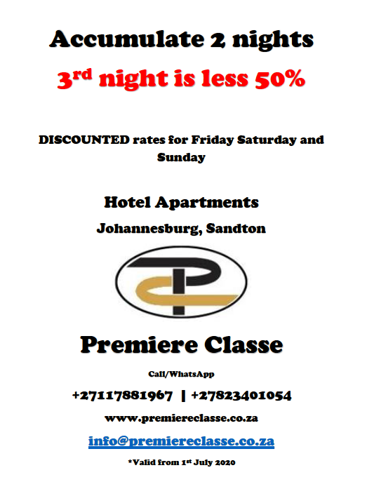 Premiere Classe Hotel Apartment - Sandton Accommodation