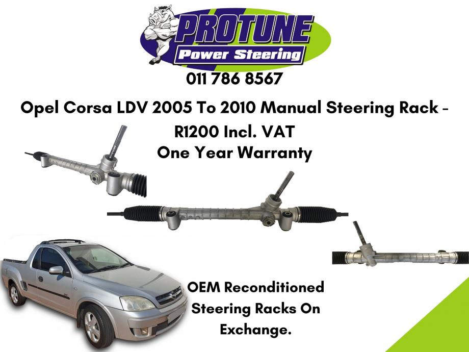 Opel Corsa LDV 2005 To 2010 - OEM Reconditioned Manual Steering