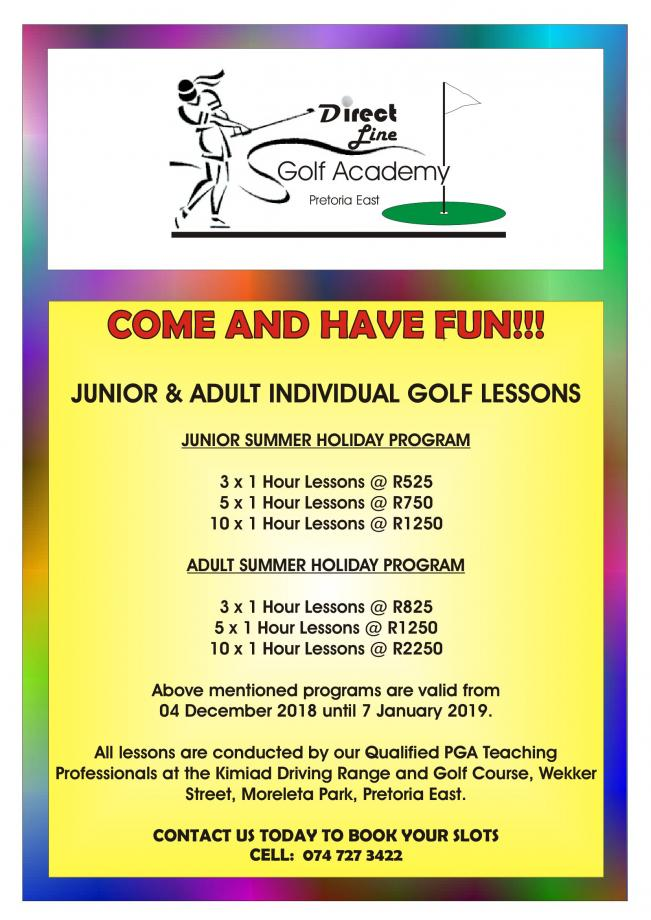 GOLF LESSON PACKAGES